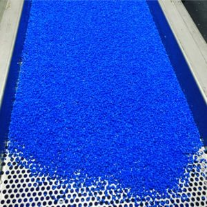 Recycled LDPE pellets from LDPE plastic film scrap